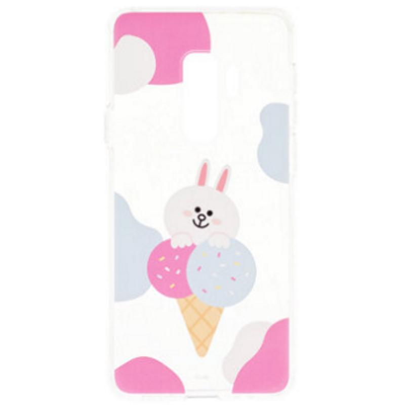 SAMSUNG Galaxy S9+ LINE Cony兔 FRIENDS 冰淇淋背蓋