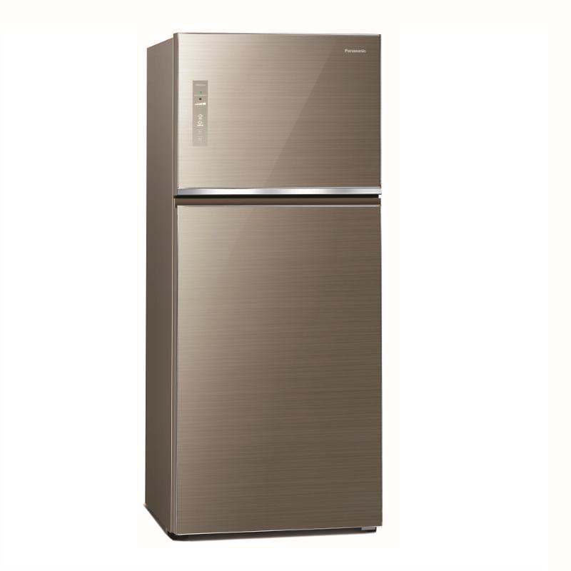 Panasonic 422L無邊框玻璃變頻雙門電冰箱 翡翠金 NR-B421TG-N【贈基本安裝】