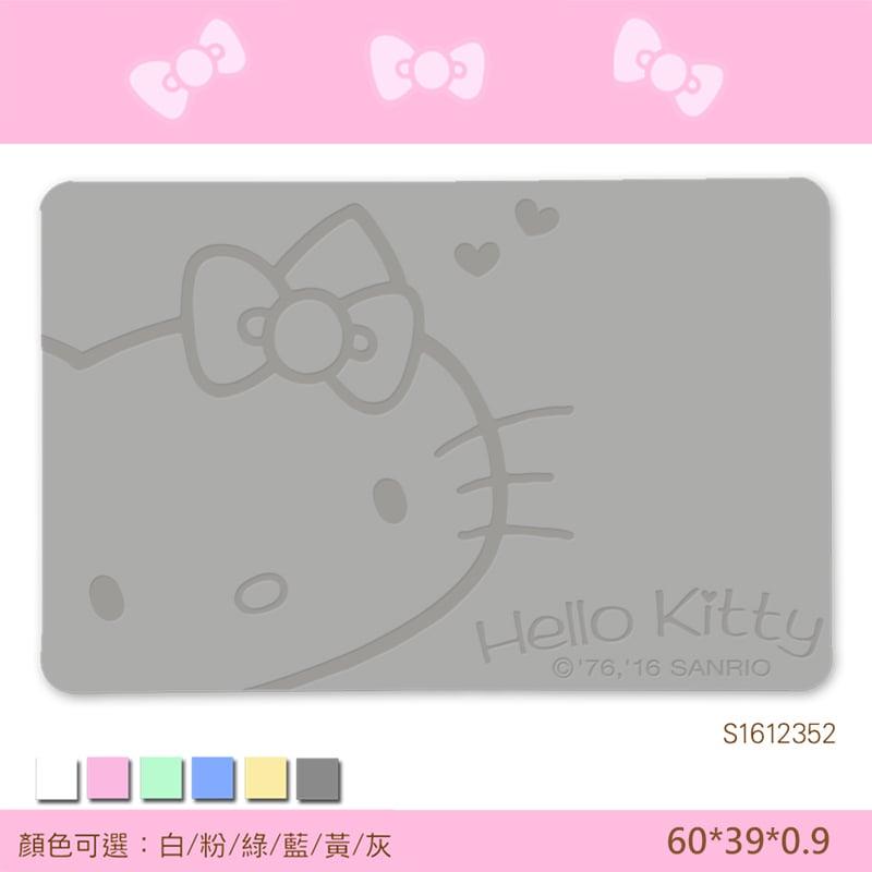 【三麗鷗獨家授權】Hello Kitty珪藻土吸水地墊//復刻甜心-灰