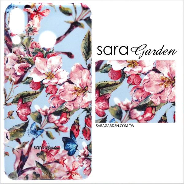 【Sara Garden】客製化 手機殼 SONY XZ2 保護殼 硬殼 桃花碎花