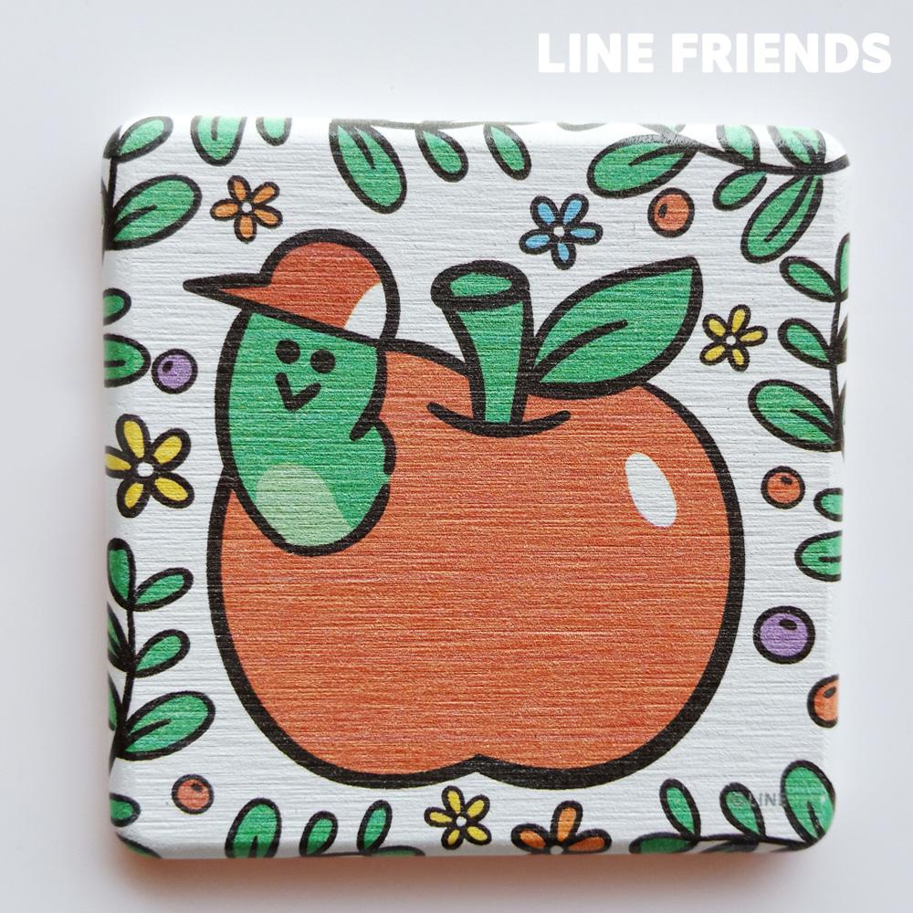 【LINE FRIENDS】手繪款 珪藻土杯墊//蘋果愛德華