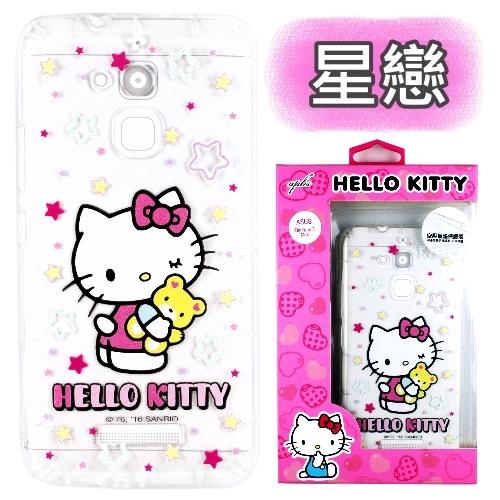 【Hello Kitty】ASUS ZenFone 3 Max 5.2吋 ZC520TL 彩繪空壓手機殼(星戀)