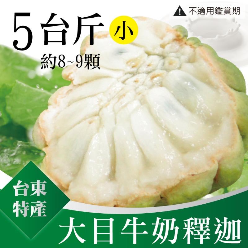 【台東特產】大目牛奶釋迦5台斤/盒(小8-9顆)