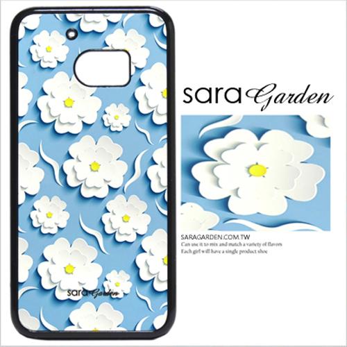 客製化 原創 Samsung 三星 S7Edge 手機殼 白硬殼 紙雕碎花