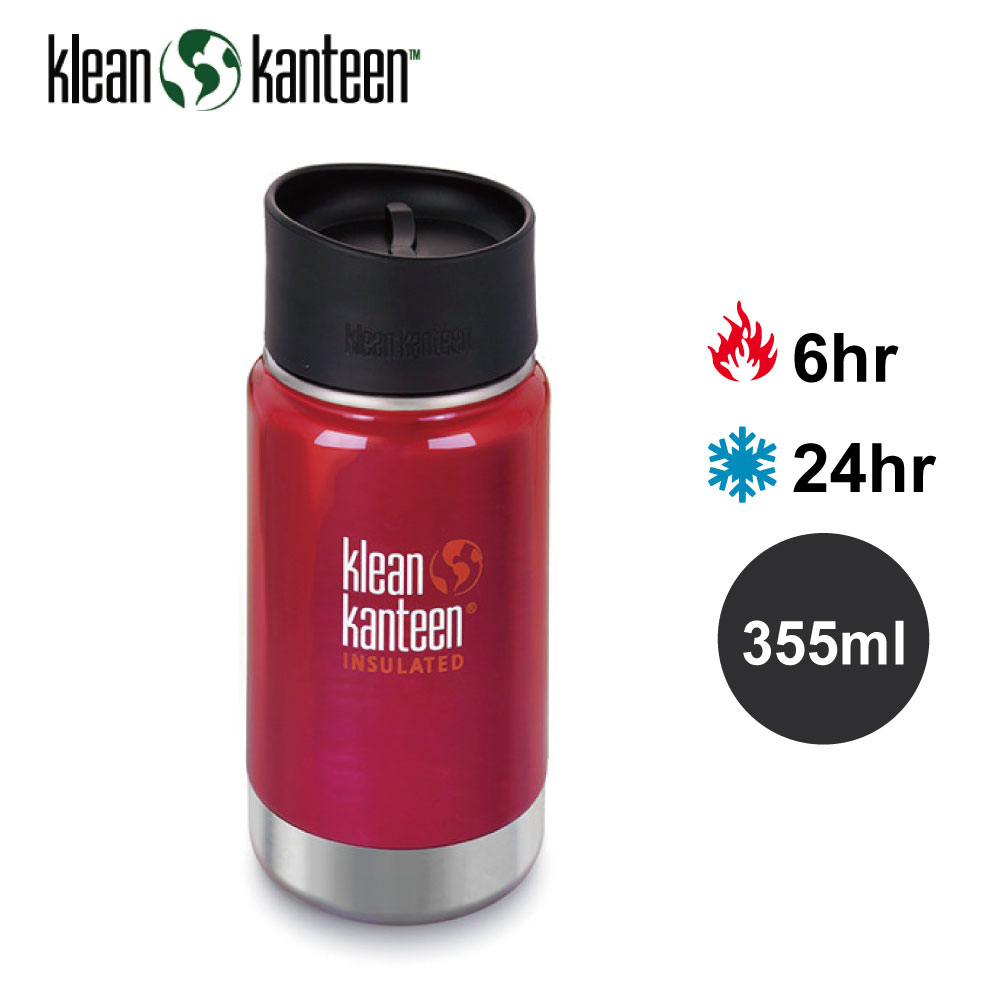 【美國Klean Kanteen】寬口不鏽鋼保溫瓶-355ml-彩椒紅