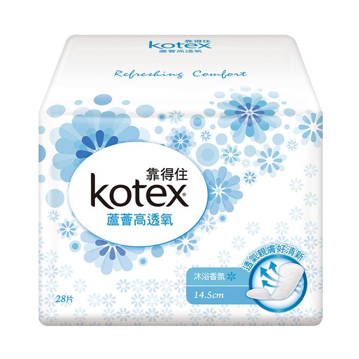 《靠得住》蘆薈高透氧護墊標準型-沐浴香氛14.5cm(28片x3包x8組/箱)