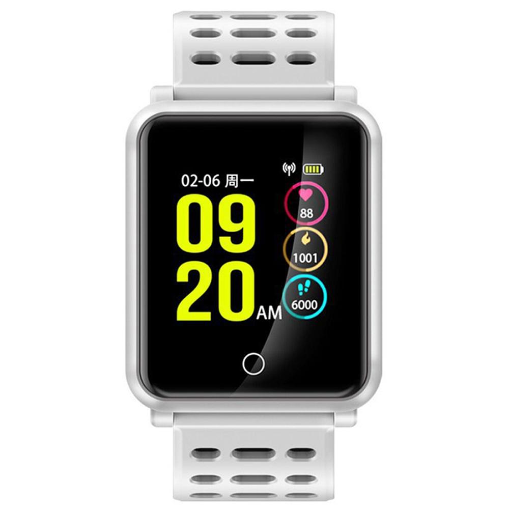 全新彩色螢幕旗艦智能藍芽手錶-白