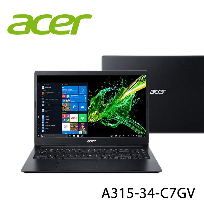 【ACER宏碁】A315-34-C7GV 黑 15.6吋 筆電-送七巧包+HDMI 傳輸線(贈品顏色款式隨機)