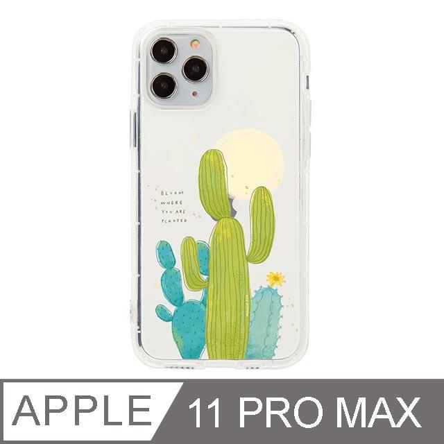iPhone 11 Pro Max 6.5吋 Mandie園藝小日子插畫防摔iPhone手機殼 仙人掌