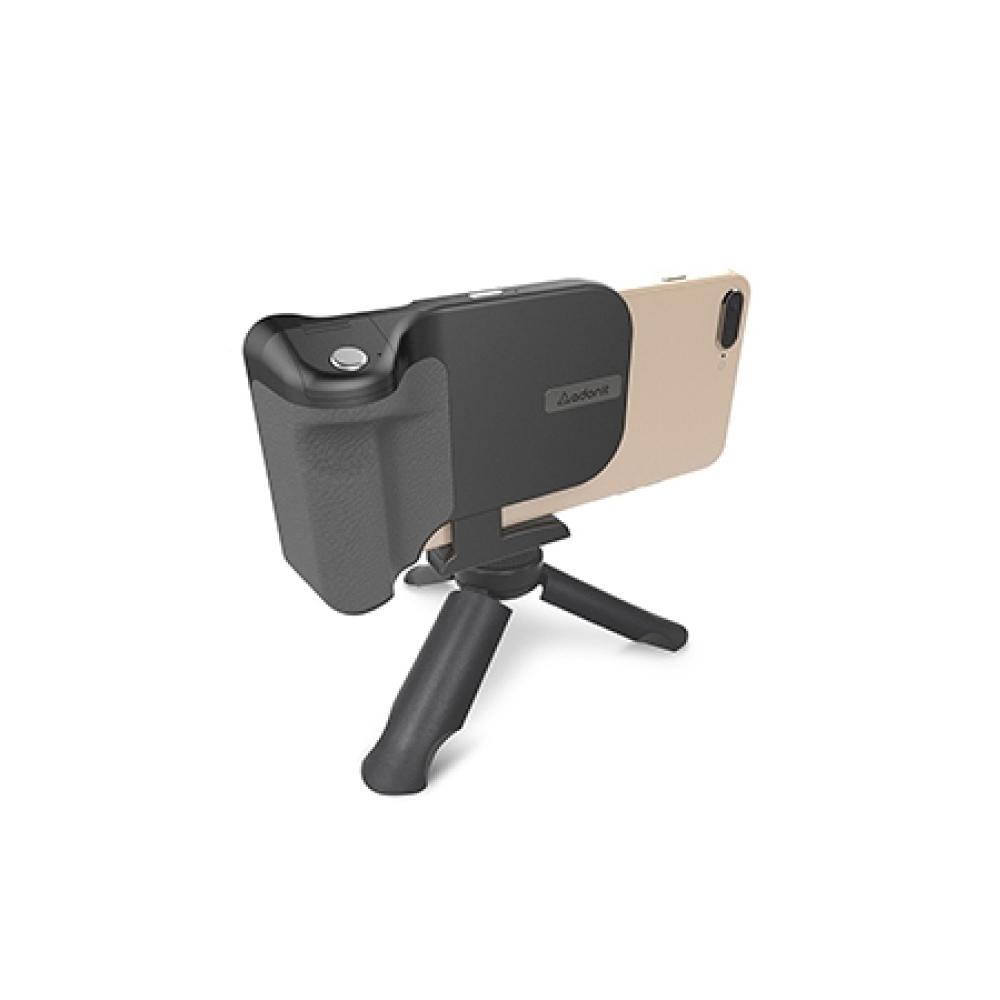 Adonit PhotoGrip Qi 無線充電自拍夾(含三腳架) -黑色