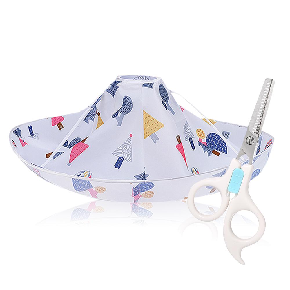 O'Pretty 歐沛媞 家用寶寶兒童安全理髮剪髮剪刀+立體斗篷-打薄款