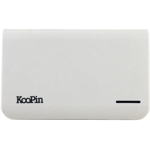 KooPin 立體格紋行動電源 通過BSMI認證 台灣製K2-10400(天使白)