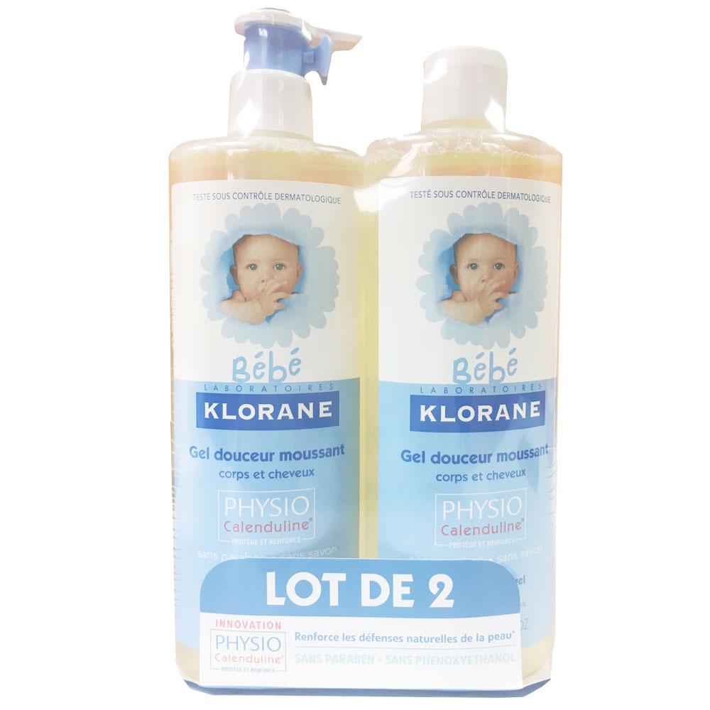 KLORANE 蔻蘿蘭 寶寶洗髮沐浴精 500ml x2入組
