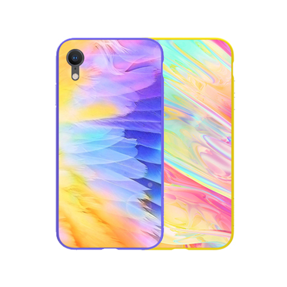 NILLKIN Apple iPhone XR 幻彩玻璃手機殼(紫色)
