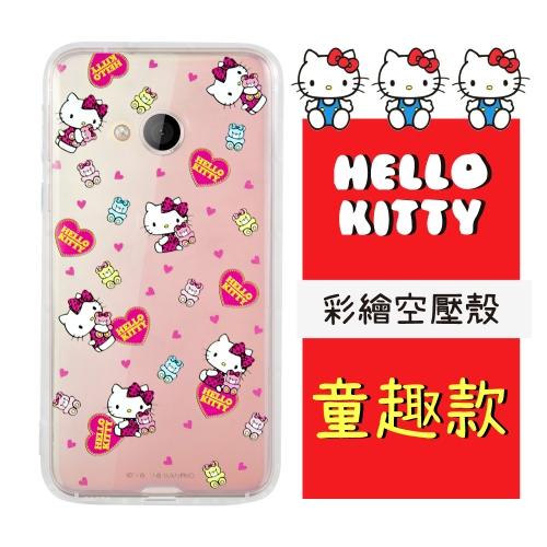 【Hello Kitty】HTC U Play (5.2吋) 彩繪空壓手機殼(童趣)