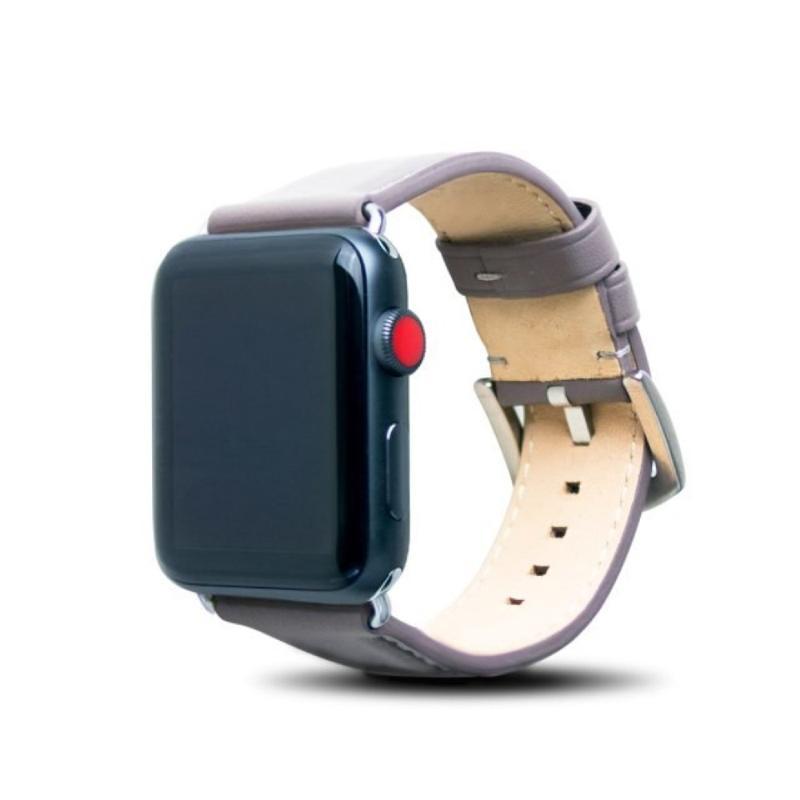 alto Apple Watch 42mm 皮革錶帶 - 礫石灰