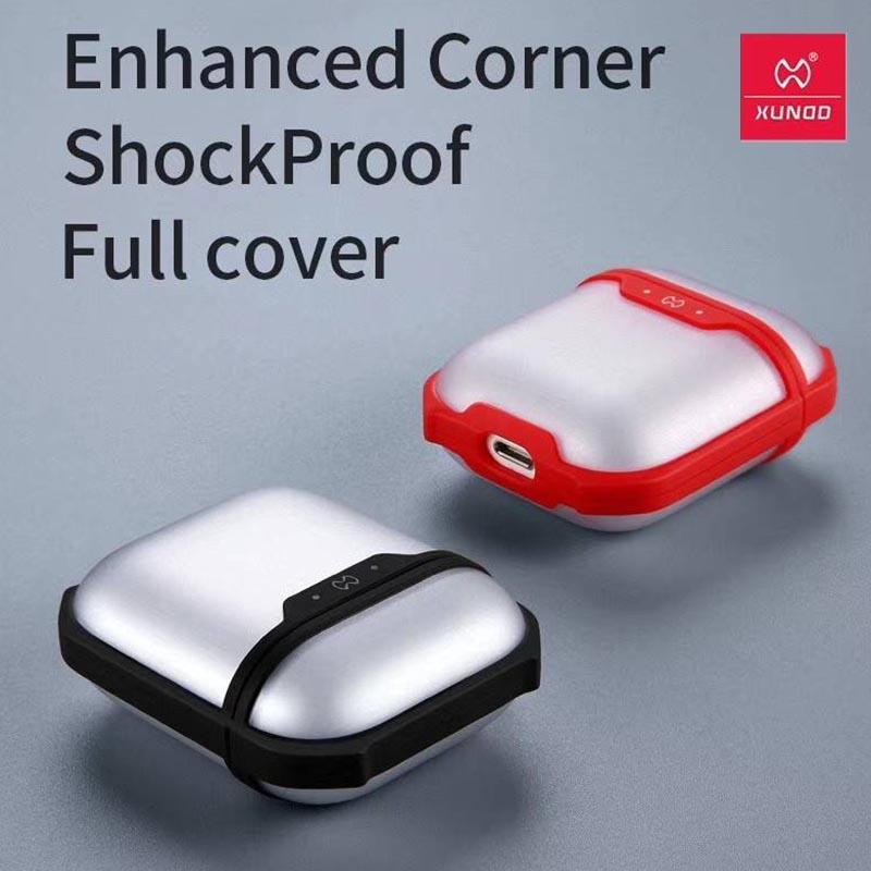 XUNDD AirPods 藍牙耳機盒甲蟲殼保護套 (紅色)