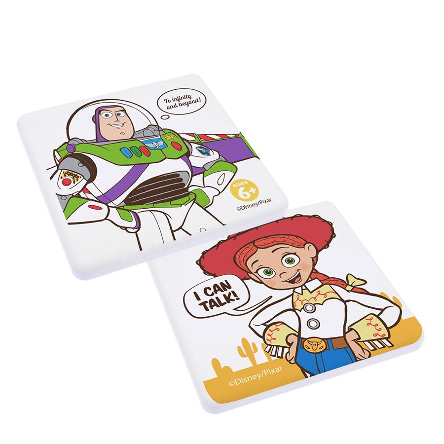 【收納王妃】迪士尼玩具總動員4珪藻土吸水杯墊 (2入一組)【巴斯光年/翠絲】