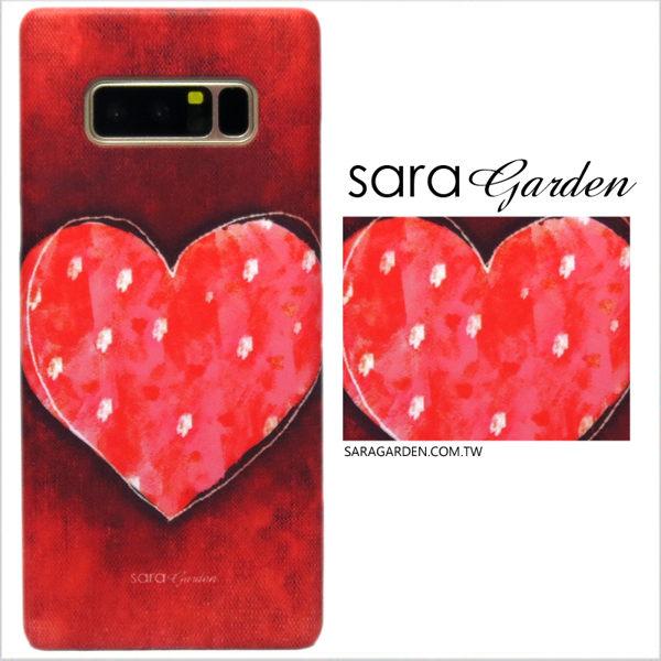 【Sara Garden】客製化 手機殼 Samsung 三星 Galaxy A50 手繪 蠟筆感 愛心 點點 保護殼 硬殼
