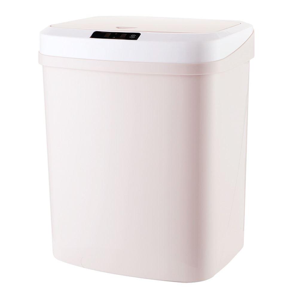 【FJ】大容量15L敲碰式感應垃圾桶(踢碰感應)粉色