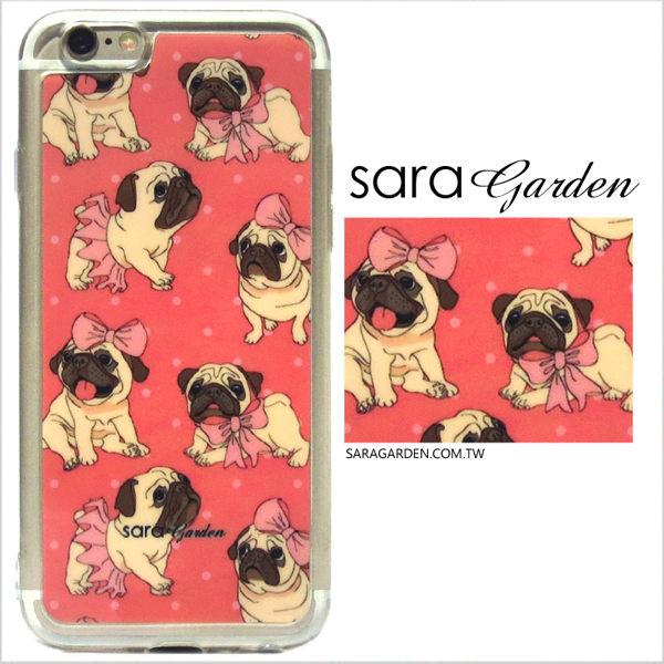 【Sara Garden】客製化 軟殼 蘋果 iPhone6 iphone6s i6 i6s 手機殼 保護套 全包邊 掛繩孔 可愛巴哥