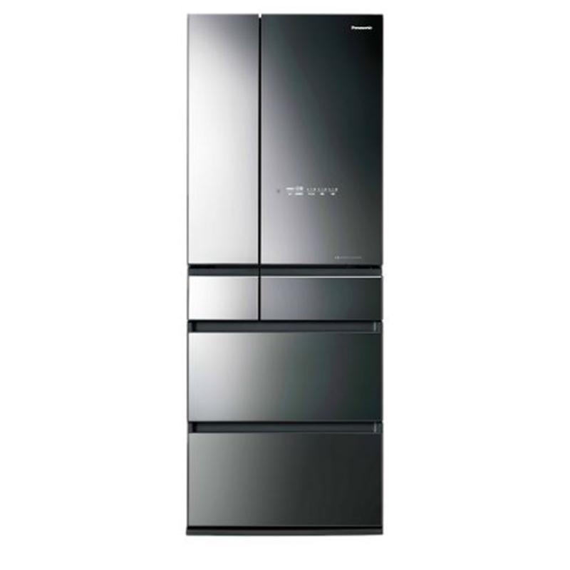 PANASONIC 600L 六門變頻日本製玻璃電冰箱 鑽石黑  NR-F606HX-X1