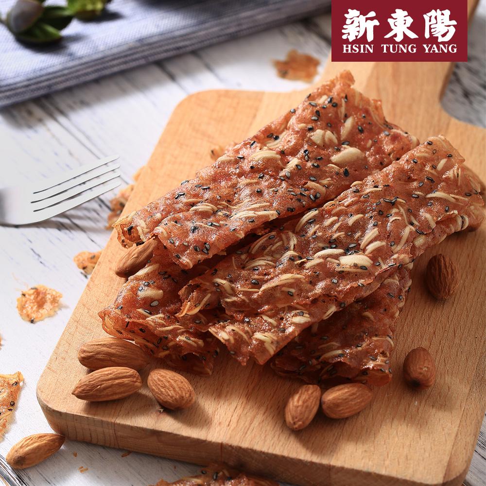 【新東陽】杏仁薄脆片肉乾禮盒*2盒 (75g*2包/盒),免運