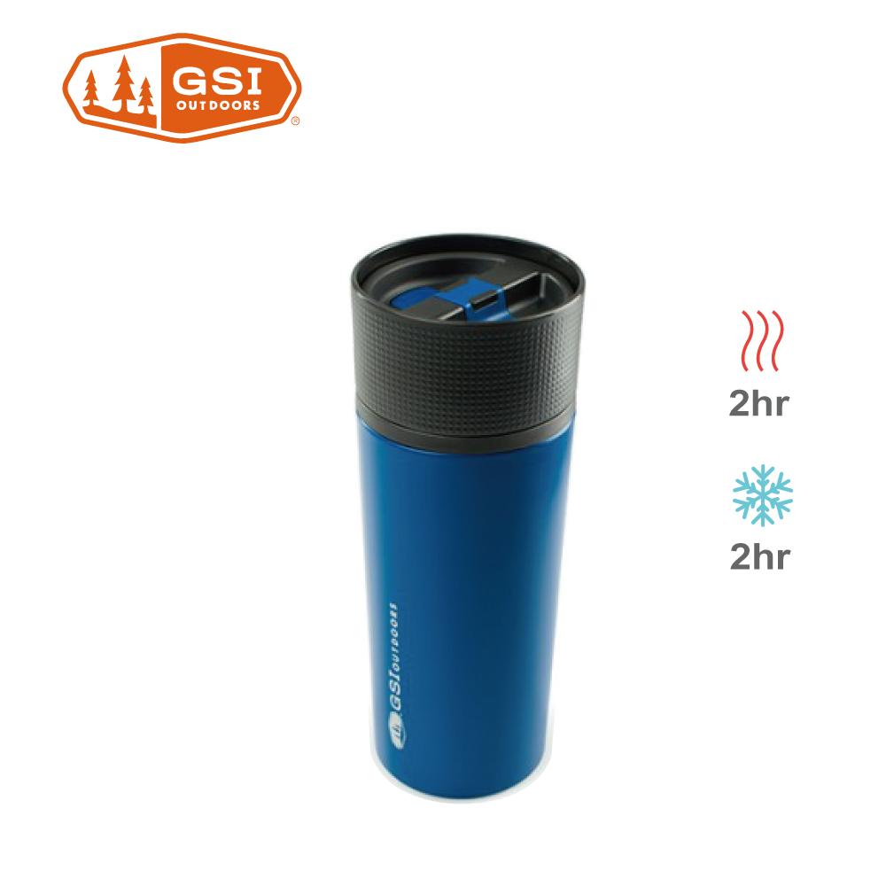 【美國GSI】 Glacier Stainless Commuter Mug不鏽鋼咖啡杯-藍色