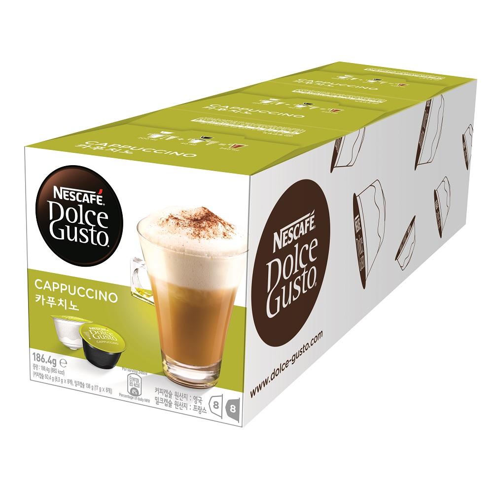 【雀巢 Nestle】雀巢咖啡 DOLCE GUSTO 卡布奇諾咖啡膠囊 16 顆入x 3