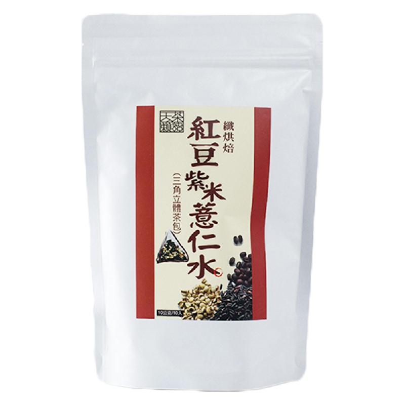 天籟茶語纖烘培紅豆紫米薏仁水100G*2袋+纖烘培黑豆水100G*2袋