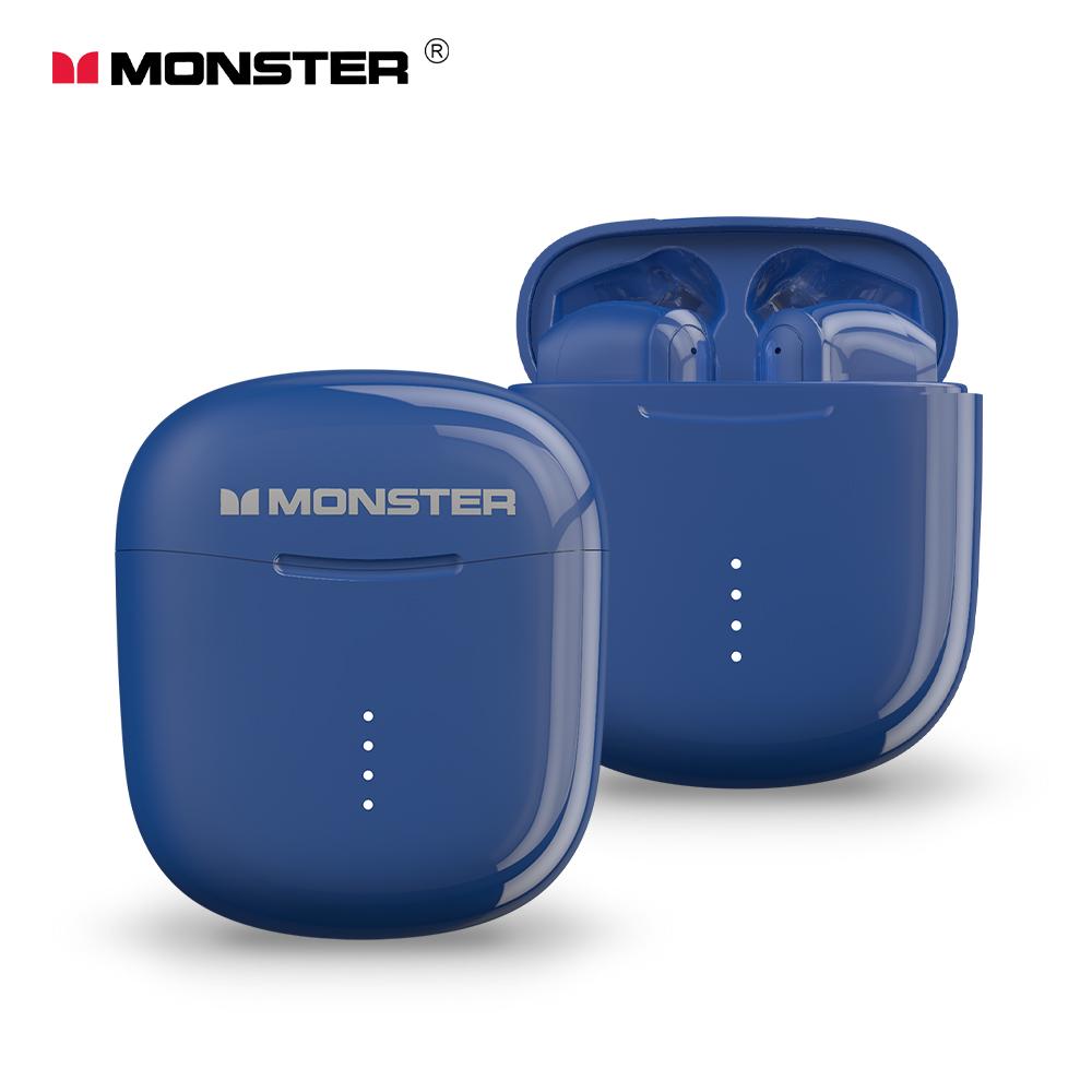 MONSTER Clarity 107 AirLinks 藍牙5.0無線耳機(加贈招財貓造型保護套)-海軍藍