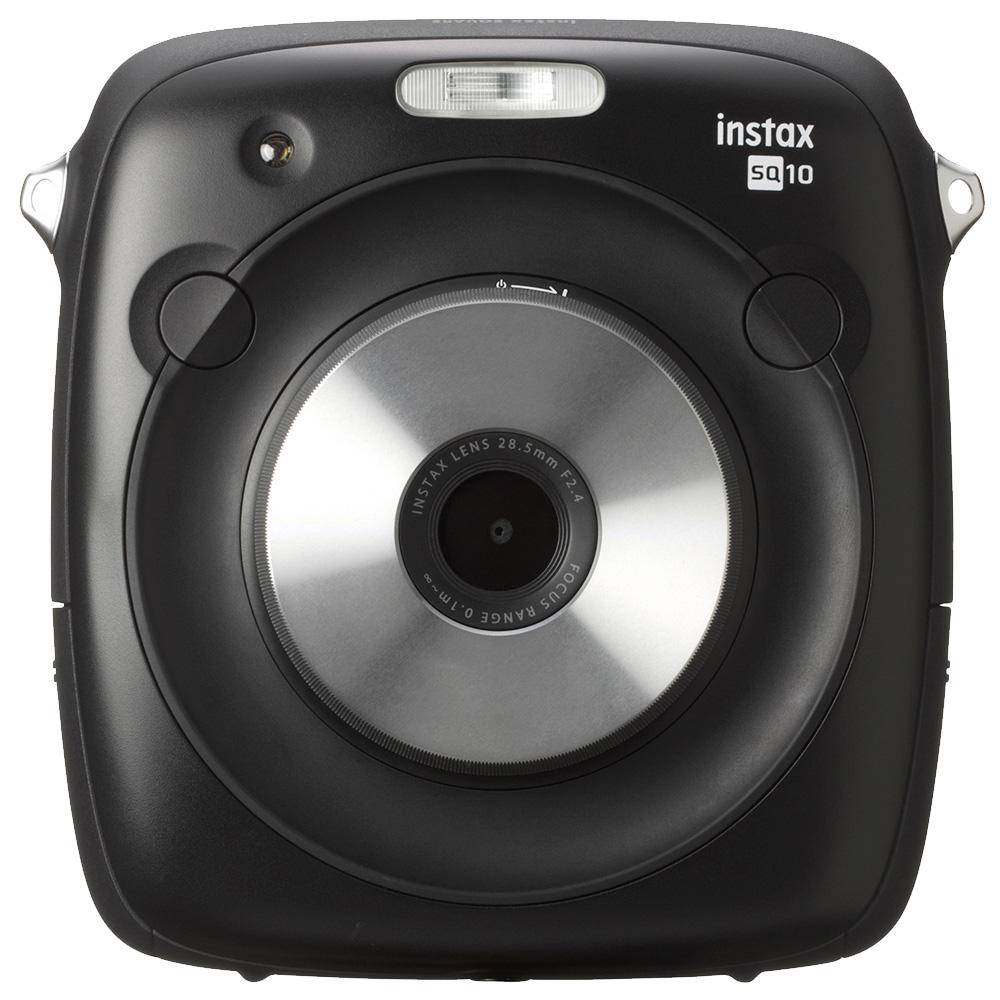 FUJIFILM instax SQUARE SQ10 方形拍立得相機(公司貨)/黑色-送專用底片(3盒)+專用電池NP-50