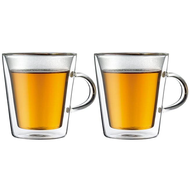 丹麥Bodum CANTEEN雙層附把玻璃杯200CC(一盒二入)