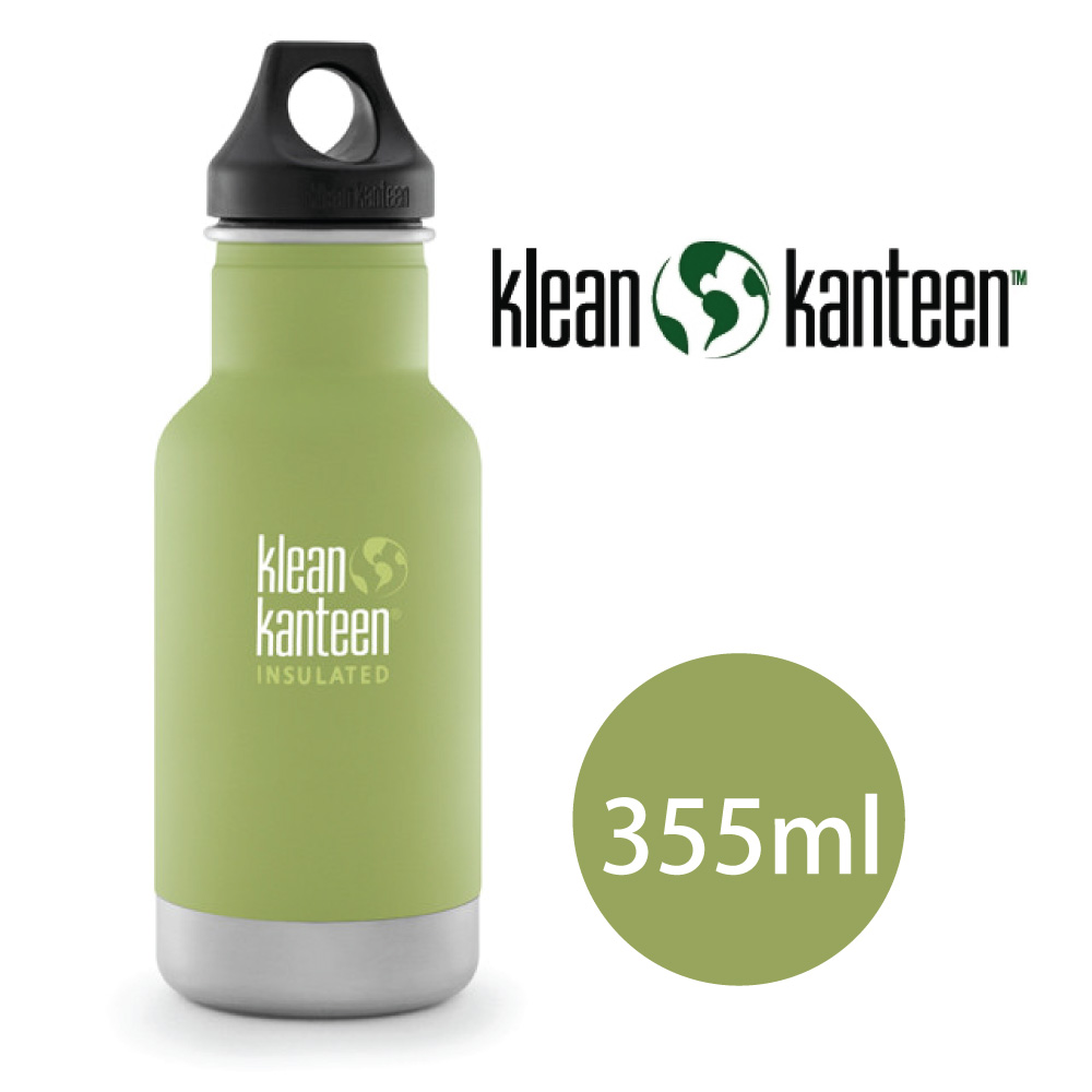 【美國Klean Kanteen】窄口不鏽鋼保溫瓶-355ml-竹葉綠