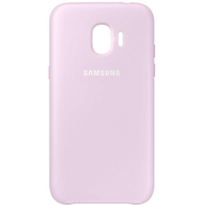 SAMSUNG J2 Pro薄型透明背蓋-PC及TPU混和 粉色