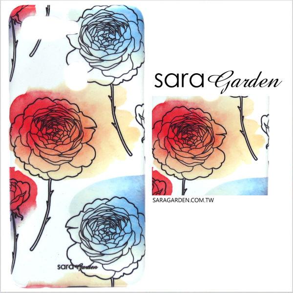 【Sara Garden】客製化 手機殼 Samsung 三星 J7Plus j7+ 保護殼 硬殼 漸層玫瑰碎花