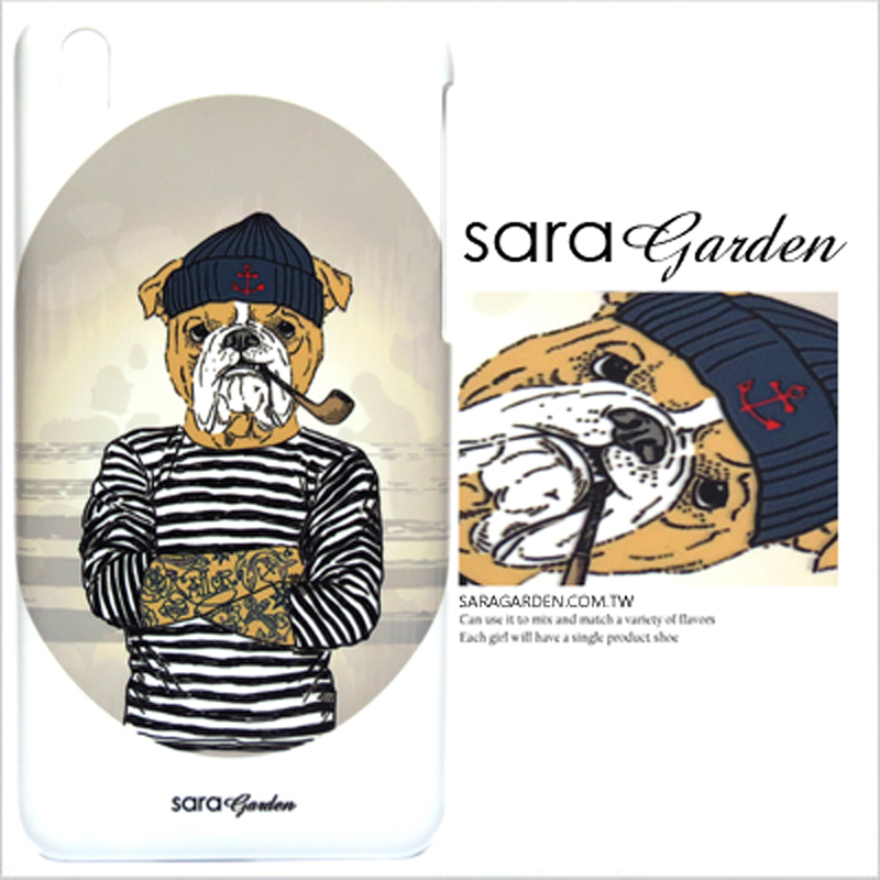 【Sara Garden】客製化 手機殼 SONY XA Ultra 手繪 潮流 刺青 沙皮狗 手工 保護殼 硬殼