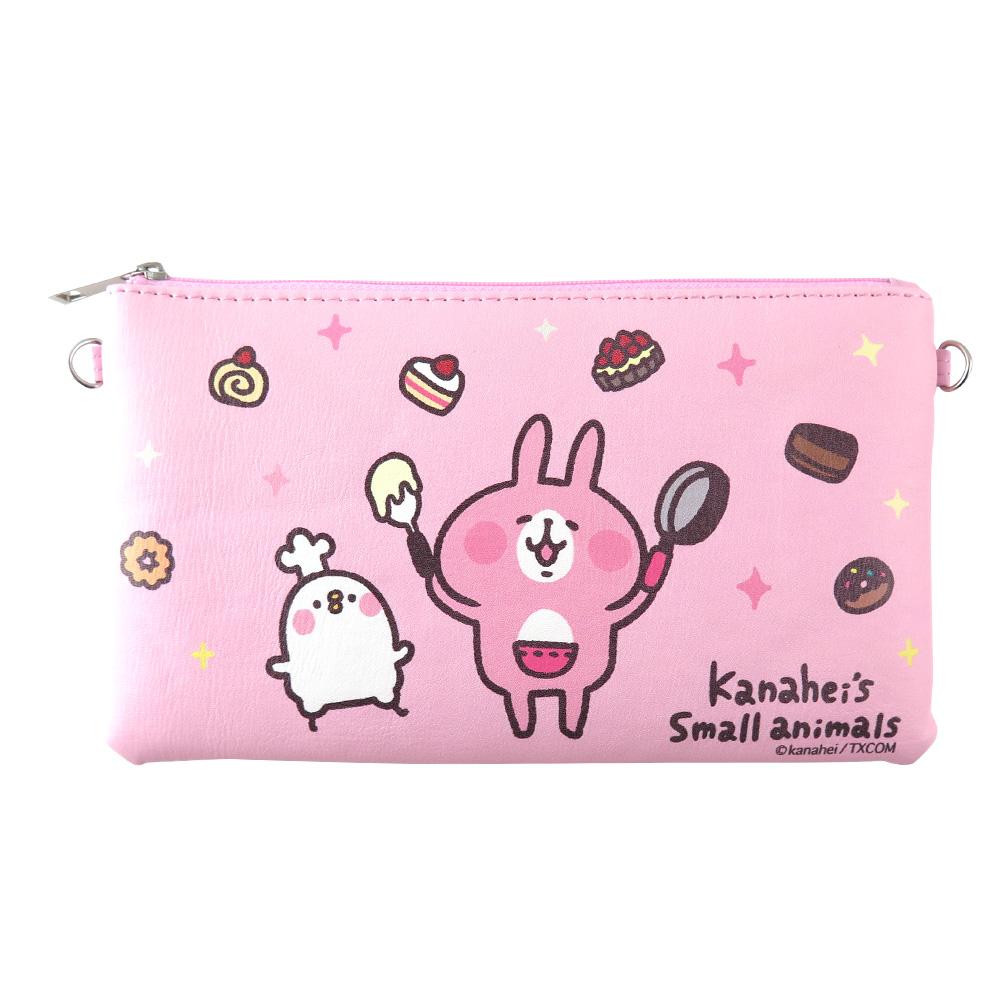 Kanahei卡娜赫拉皮質橫式手機袋/萬用包/手腕袋 甜點