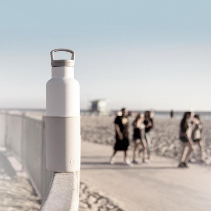 HYDY 美國時尚保溫水瓶 CinCin White 雲灰-白瓶 590ml