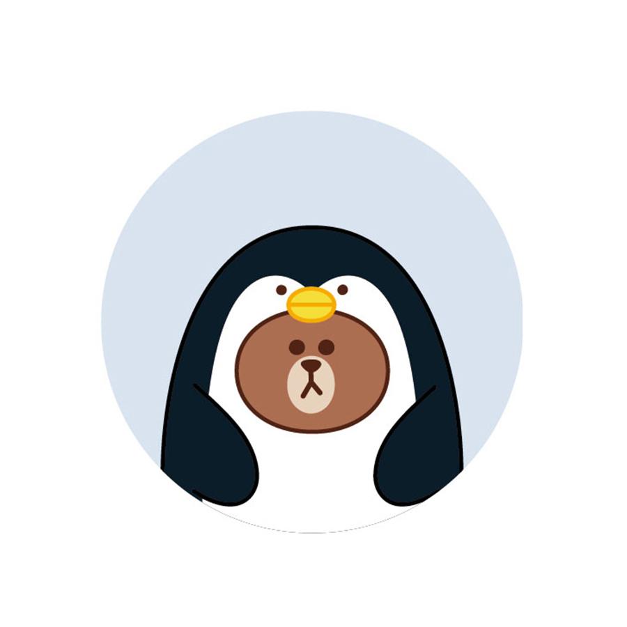 【收納王妃】LINE FRIENDS授權叢林系列珪藻土吸水杯墊 (2入一組)【企鵝熊大】