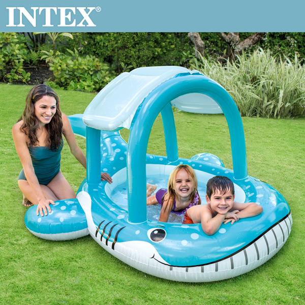 【INTEX】鯨魚遮陽幼兒戲水池(211*185*109CM)(120L)適用2歲+(57125)