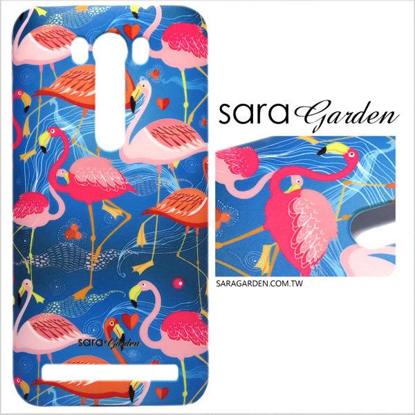 【Sara Garden】客製化 手機殼 SONY XA Ultra 手工 保護殼 硬殼 手繪紅鶴火鶴