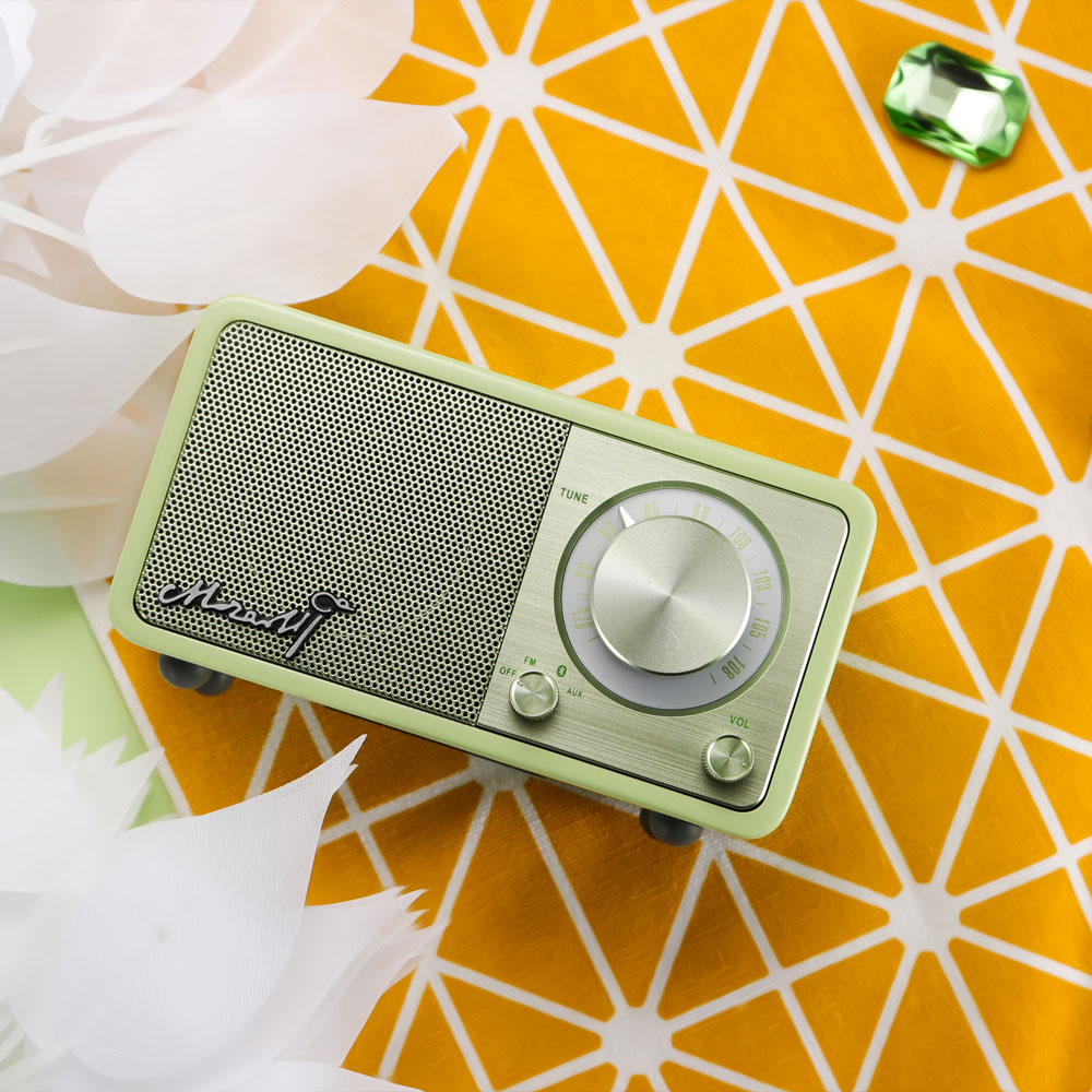 山進電子SANGEAN- Mozart 調頻/藍芽喇叭/FM/藍牙/攜帶式音響/小音箱/收音機 粉綠色