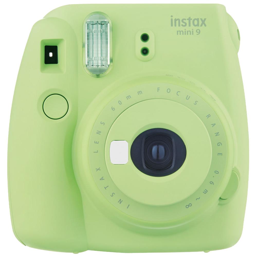 FUJIFILM instax mini 9 超值七件組合 拍立得相機(公司貨)_萊姆綠