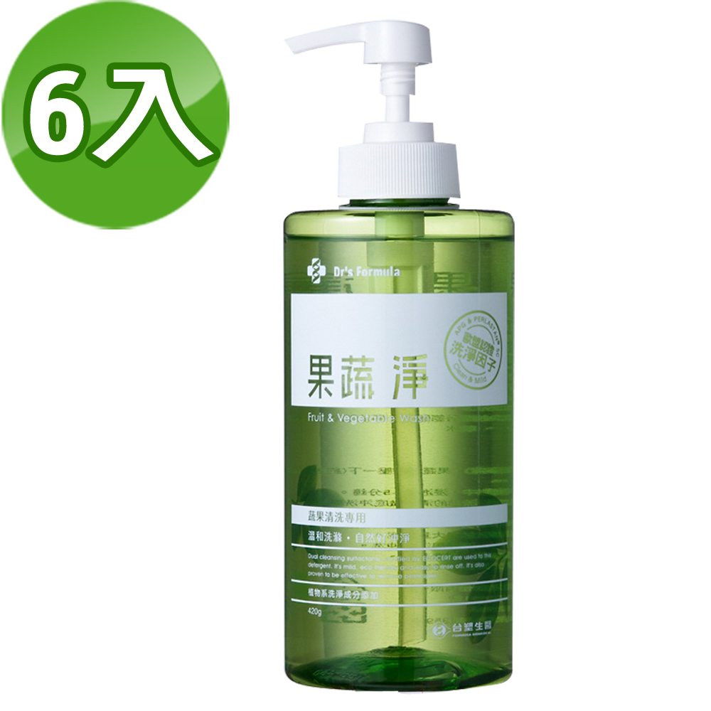 《台塑生醫》Dr's Formula果蔬淨420g(6瓶/組)