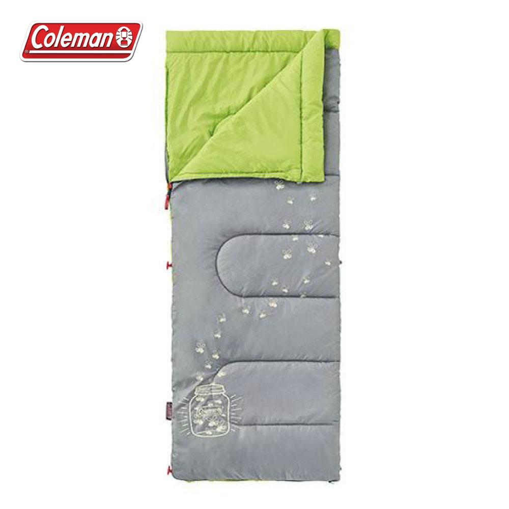 Coleman 夜光型萊姆綠兒童睡袋C7 睡袋 露宿袋 毛毯 露營睡袋 CM-22259