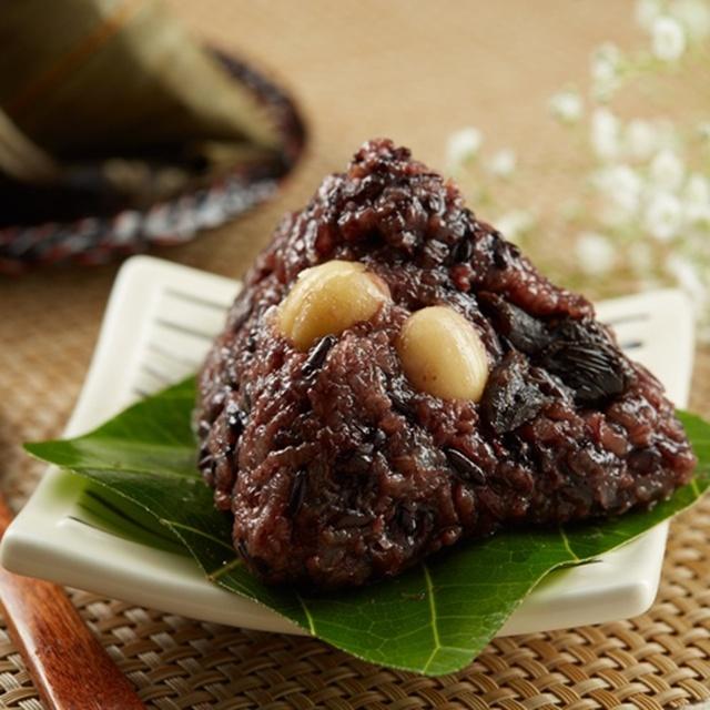 預購《台灣好粽》紫米紅豆蓮子粽8入(附提盒)