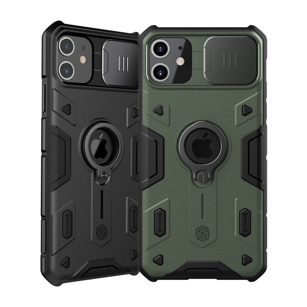 NILLKIN Apple iPhone 11 6.1 黑犀保護殼(墨綠)