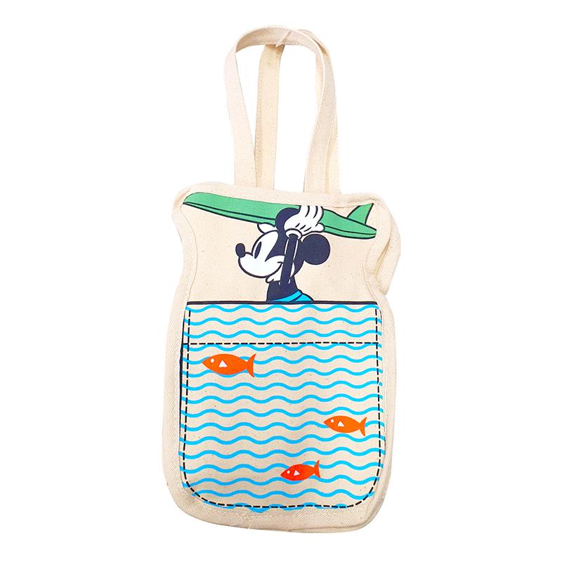 迪士尼系列 多功能帆布飲料袋-衝浪米奇款