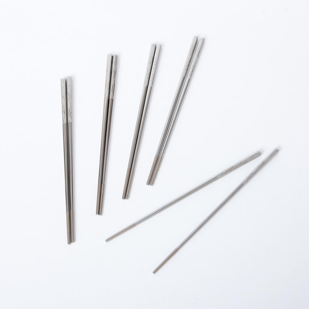 稻穗不鏽鋼316五入筷組-生活工場